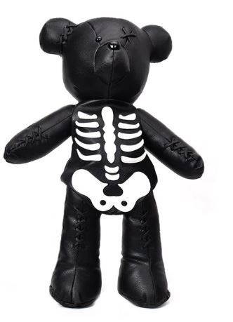 Wicked Skeleton Bear and Goth Bear Backpack Bag/Purse