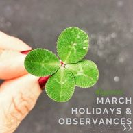 March Holidays and Observances