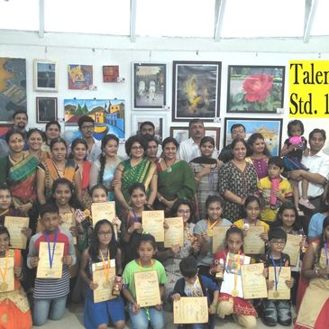 23rd Radart Exhibition, Thane, Mumbai.  (2018-Aug). 3rd Edition Talent Scout (1st -12th Std.)