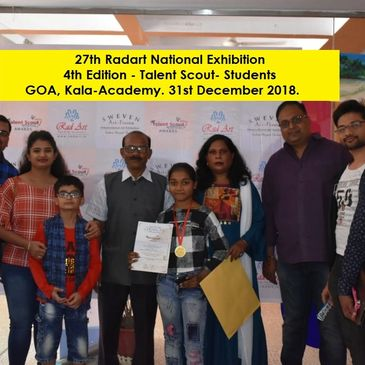 4th Edition Talent Scout (1st -12th Std. Students) 36th Radart Exhibition-Panaji, Goa. December' 18.