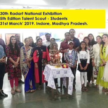 5th Edition Talent Scout (1st -12th Std. Students) 30th Radart Exhibition-Indore, M. P.  Mar' 19.