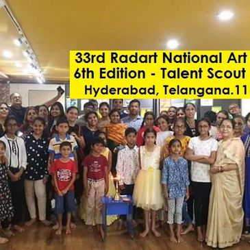 6th Edition Talent Scout (1st -12th Std. Students) 33rd Radart Exhibition-Hyderabad, TEL. Sep' 19.