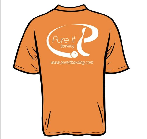 Pure It Bowling T-Shirt Orange *Pre-order*