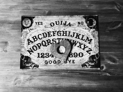 My favourite piece of equipment, an Ouija board.