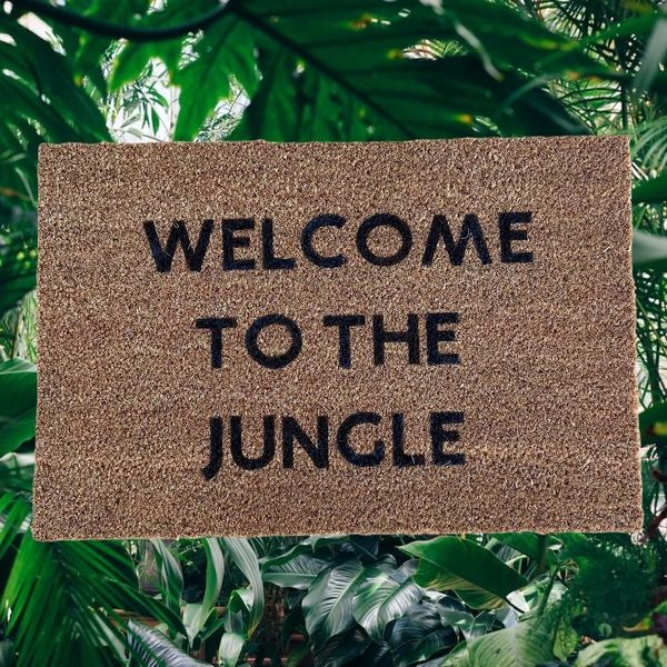 """""""Welcome To The Jungle"""" Door Mat"""