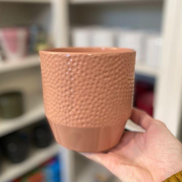 LIGHT PINK - Ceramic Glazed Pot 12cm