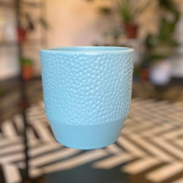 LIGHT BLUE - Ceramic Glazed Pot 12cm