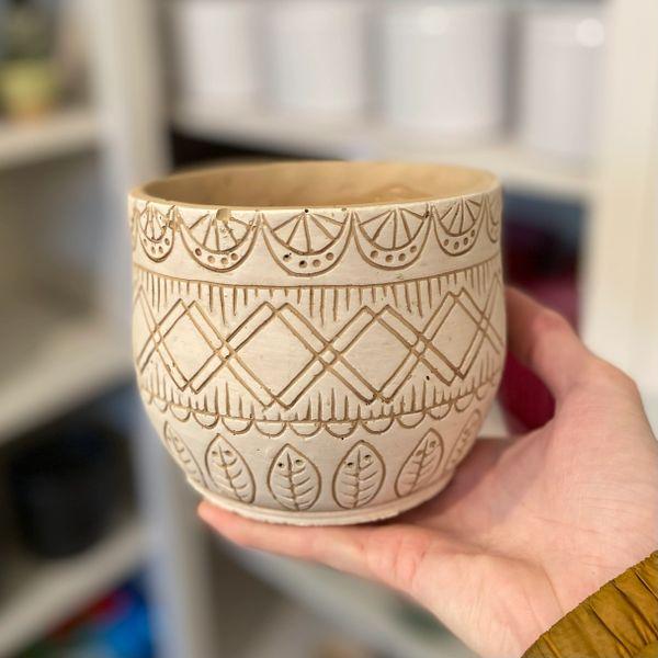 Moroccan Themed Pot - 12cm