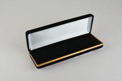 Black velvet single pen case