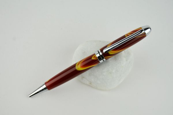 Classic ballpoit pen, sunset, chrome