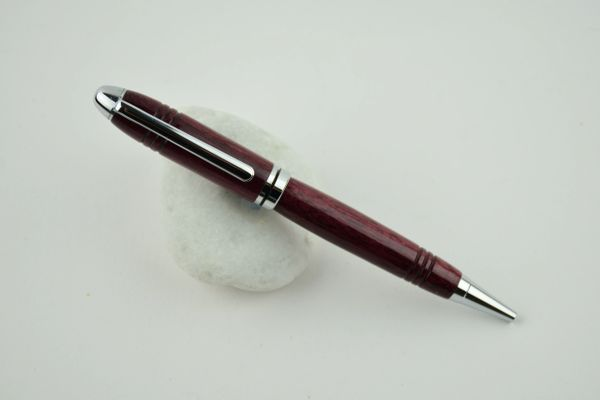 Classic ballpoint pen, purpleheart, comfort grip, chrome