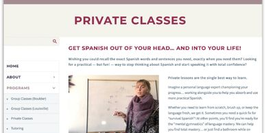 Boulder Spanish, private classes page