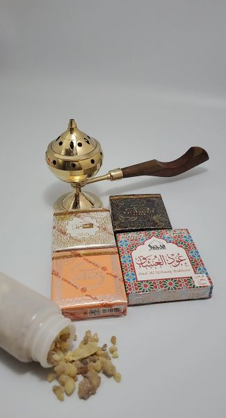 Incense Burner with 4 types of bukhoor