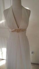Casablanca Halter Wedding Gown Style 2019 size 6 Ivory