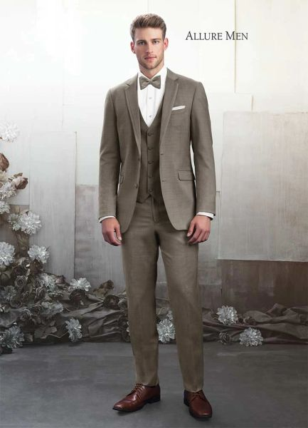 Allure Men Sandstone Baige 'Brunswick' Tuxedo C1034
