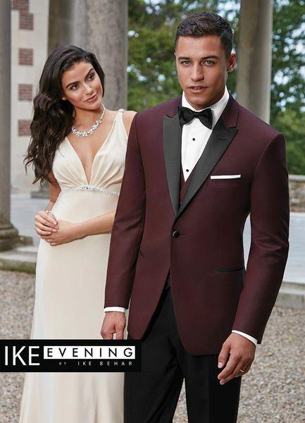 IKE Behar Burgundy 'Marbella' Tuxedo C1023