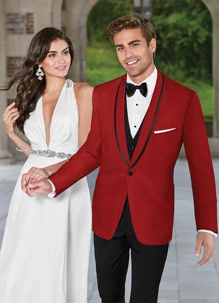 Select Formalwear Red 'Carmine'Tuxedo C1025