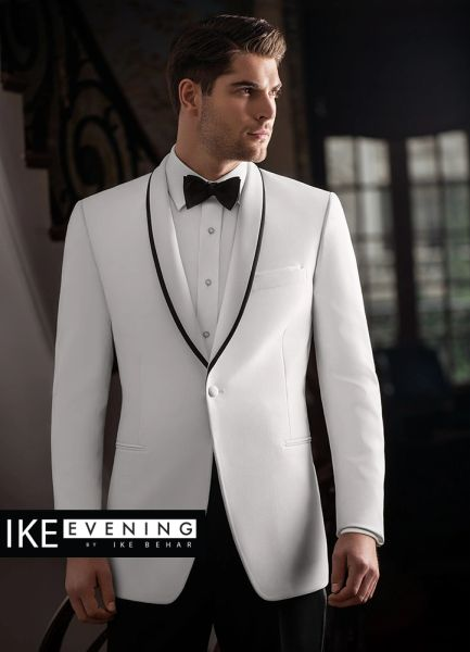 IKE BeharEvening White 'Waverly' Tuxedo C1009