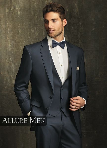 Allure Men Slate Blue 'Bartlett' Tuxedo C1003