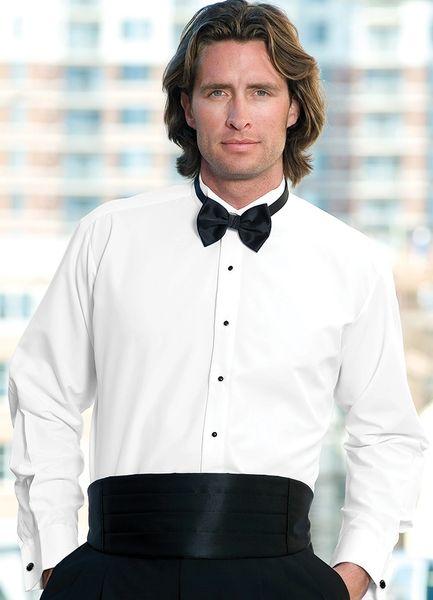 White Wing Collar Non-Pleat Shirt STAW
