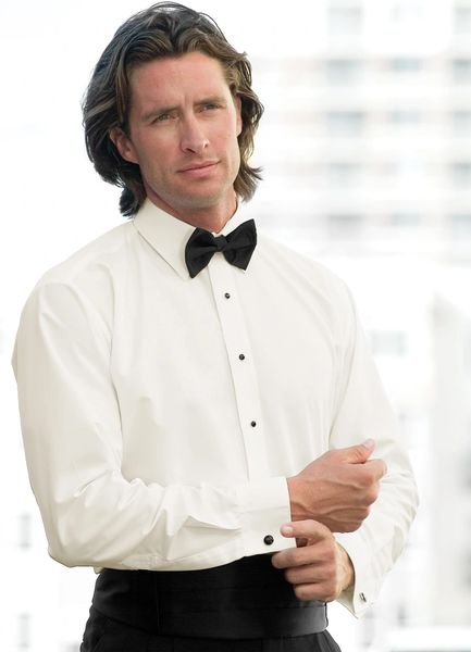 Ivory Turndown Collar Shirt STIP