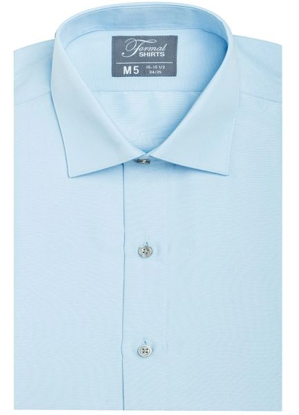 Blue Spread Collar Modern Fit Shirt SBLF