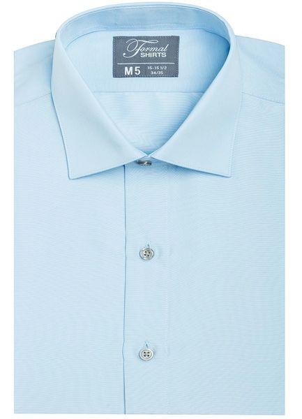 Blue Spread Collar Modern Fit Shirt SBLF