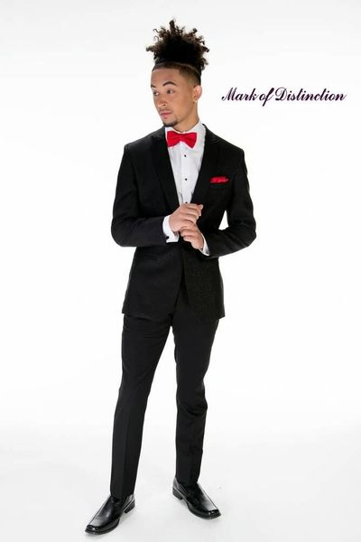 MARK OF DISTINCTION BLACK SPARKLE 'ZENITH' TUXEDO C1039