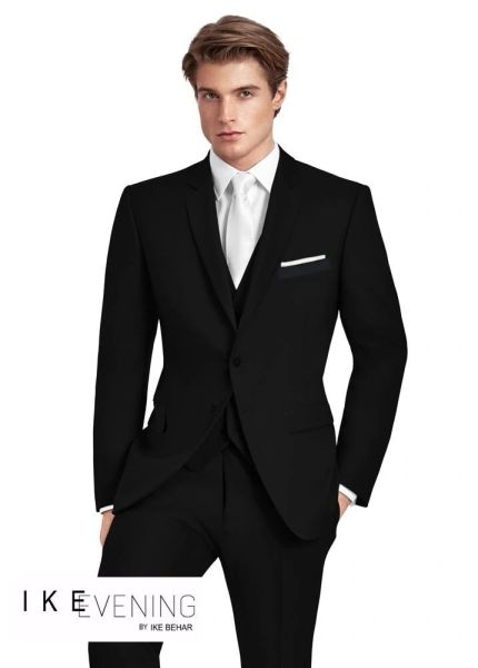 IKE BEHAR EVENING BLACK 'ETHAN' SUIT C1042