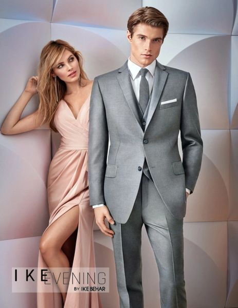 IKE BEHAR EVENING LIGHT GREY 'BRYCE' SUIT C1043