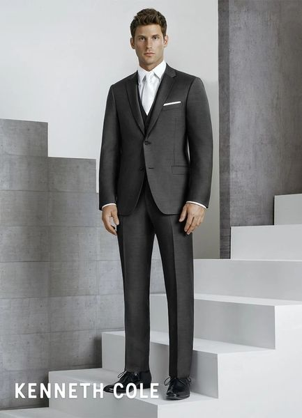 KENNETH COLE STEEL GREY 'HOUSTON' SUIT C1054