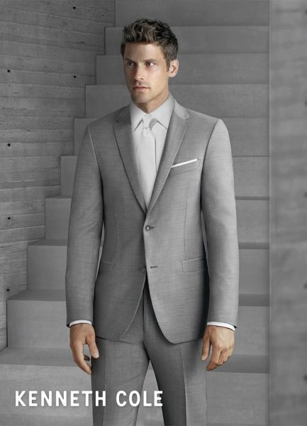 KENNETH COLE HEATHER GREY 'BEDFORD' SUIT C1056