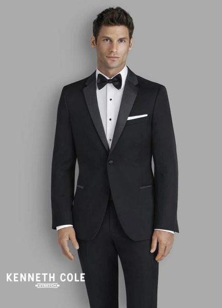 Kenneth Cole Black Performance Stretch 'Parkville' Tuxedo C1059