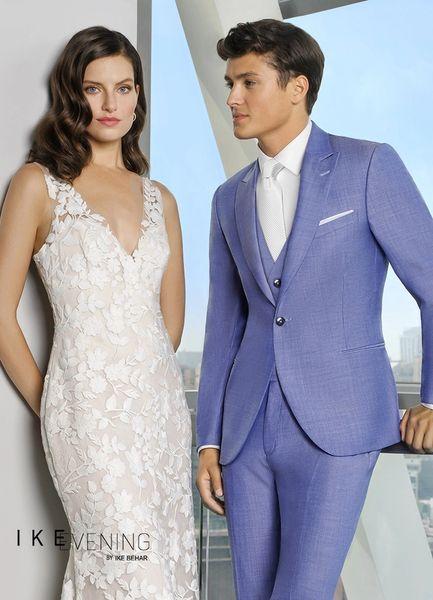 Ike Behar Caribbean Blue 'Nate' Suit C1061