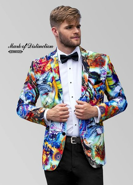 MARK OF DISTINCTION MULTICOLOR 'HENDRIX' TUXEDO C1068