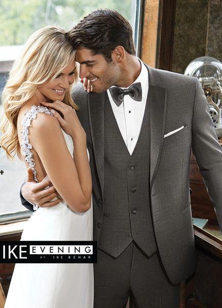 IKE Behar Evening Sharkskin Grey 'Grayson' Tuxedo N017