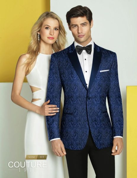 COUTURE 1910 NAVY PAISLEY 'CHASE' TUXEDO N050