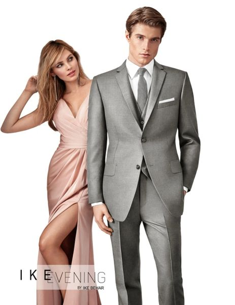 IKE BEHAR EVENING LIGHT GREY 'BRYCE' SUIT N043