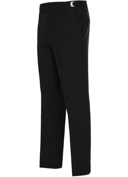 BLACK TROPICAL WOOL SLIM PANT #NBSW