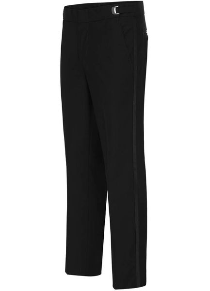 BLACK POLY SLIM-FIT PANT #NBSP