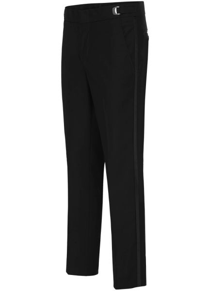 Black Poly Ultra-Slim fit pants #NBUP