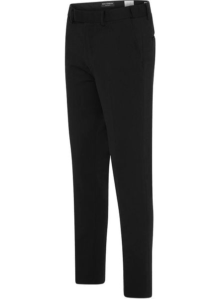 EURO-SLIM KNIT STRETCH BLACK PANT 6601