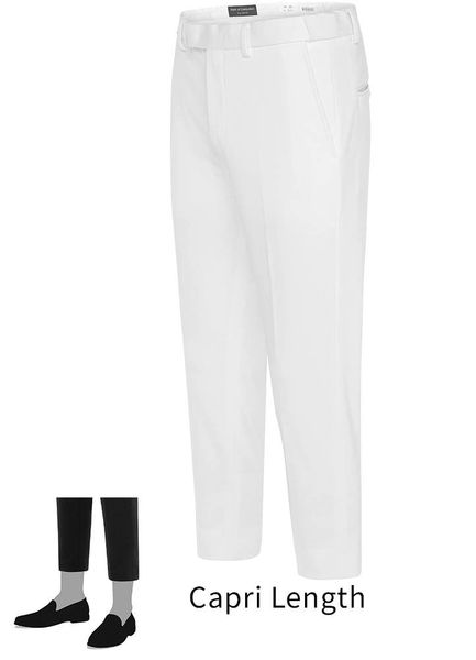 EURO-SLIM KNIT STRETCH WHITE PANT 6608.