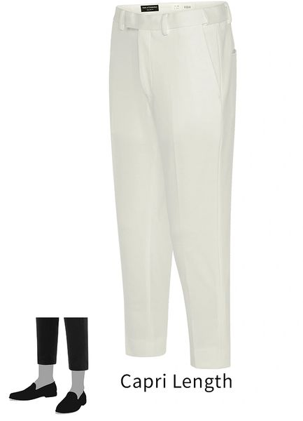 EURO-SLIM KNIT STRETCH IVORY PANT 6608