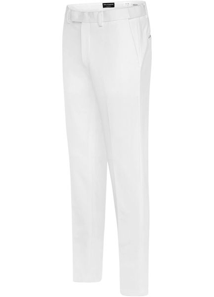 EURO-SLIM KNIT STRETCH WHITE PANT 6607