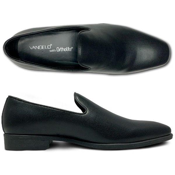 SLIP ON MATTE FINISH SHOE BLACK, WHITE, IVORY VALLO-3