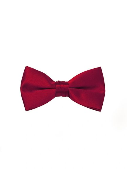 RED PRE-TIED SATIN BOW TIE 100T