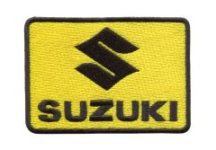 Vintage Style Suzuki Motorcycle Dirt Bike Patch 9cm x 6.5cm