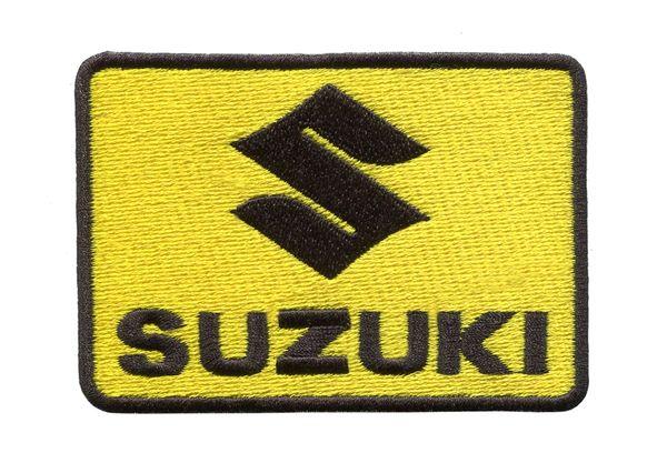 Vintage Style Suzuki Motorcycle Dirt Bike Patch 9cm x 6.5cm