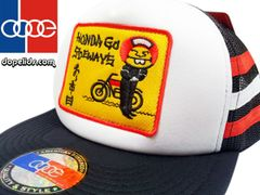 smartpatches Honda Vintage Style Motorcycle Trucker Hat (Red/White)